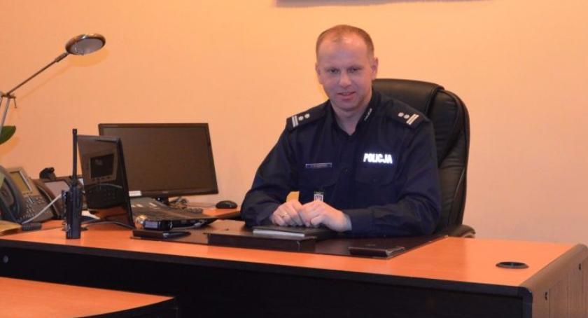 Ewa Kowalczyk, numerze rozmowa Komendantem Policji Jarosławem Olszewskim - zdjęcie, fotografia
