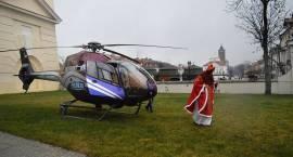Święty przyleciał helikopterem